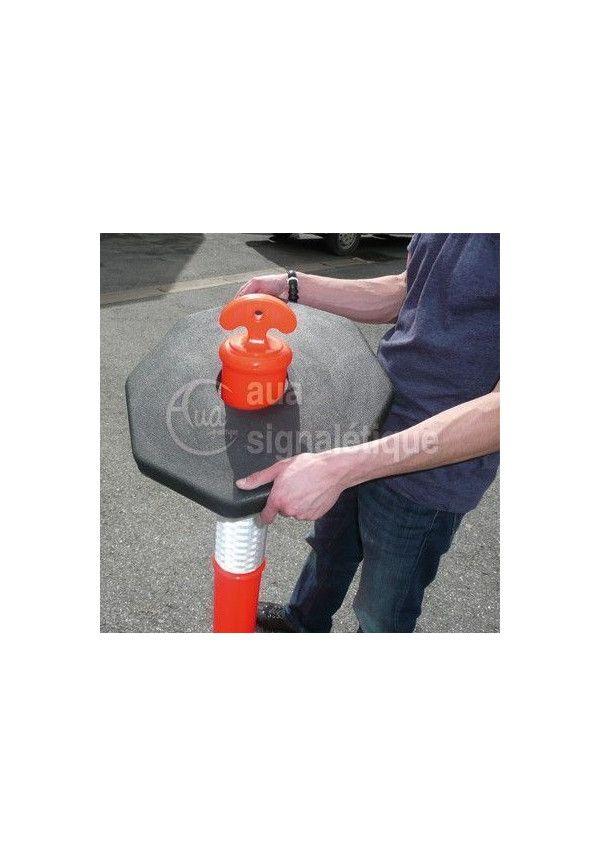 Balise Orange avec bande Rétro-réfléchissante