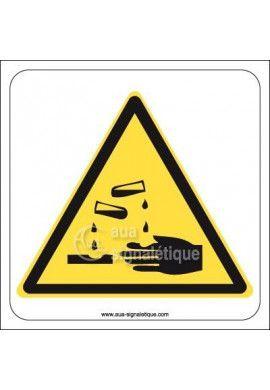 Panneau Danger de corrosion