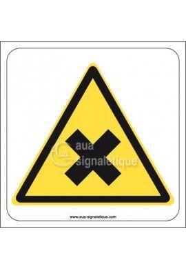 Panneau Danger de nocivité ou irritation