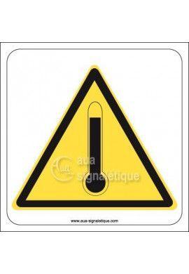 Panneau Danger Températures Elevées