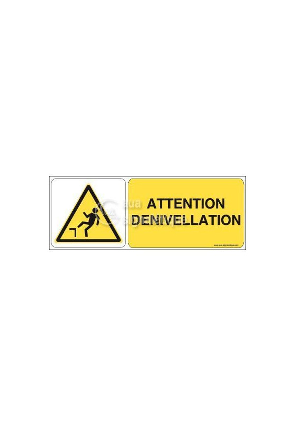 Panneau Attention Dénivellation