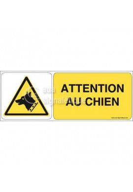 Panneau Attention au Chien 02