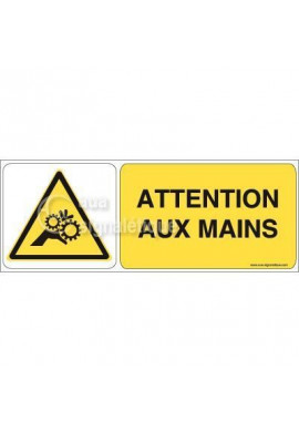 Panneau Attention aux Mains 02