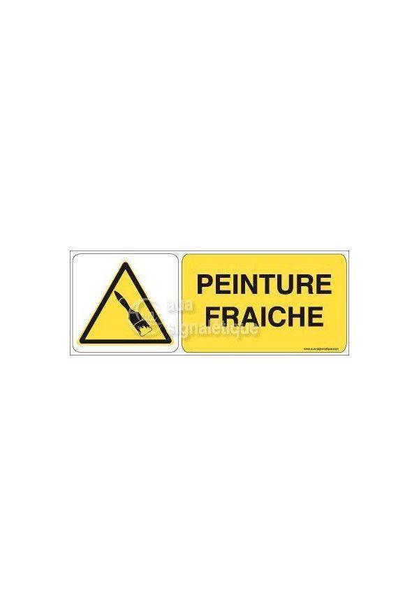 Panneau peinture fra che sur - Attention peinture fraiche ...