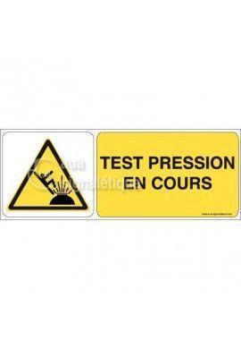 Panneau Test Pression en Cours