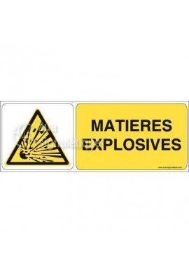Panneau Matières Explosives 02