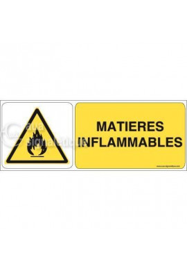 Panneau Matières Inflammables 02