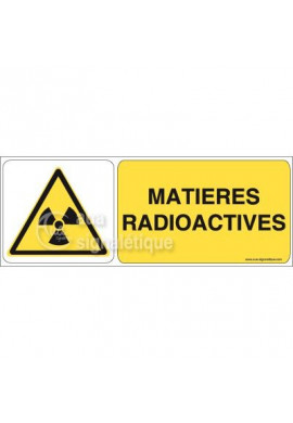 Panneau Matières Radioactives 02