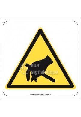 Panneau Attention produit sensible à l'électricité statique