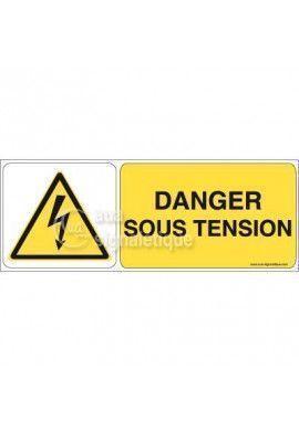 Panneau Danger sous tension