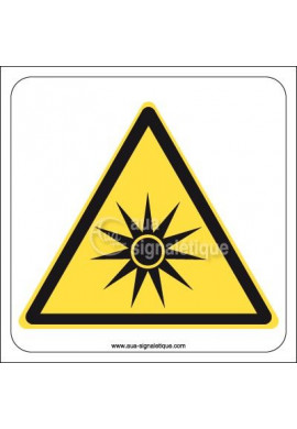 Panneau Danger Rayonnement Optique