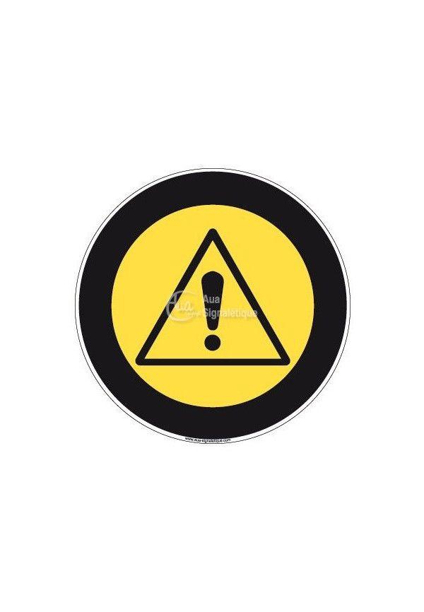 Panneau Attention Danger, Picto - R