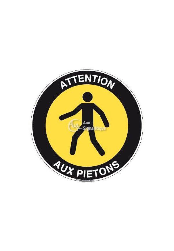 Panneau Attention Aux Piétons - R