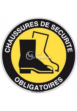Panneau Chaussures de Sécurité - R