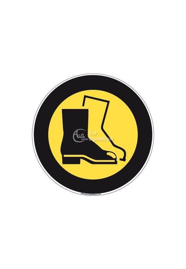 Panneau Chaussures de Sécurité, Picto - R