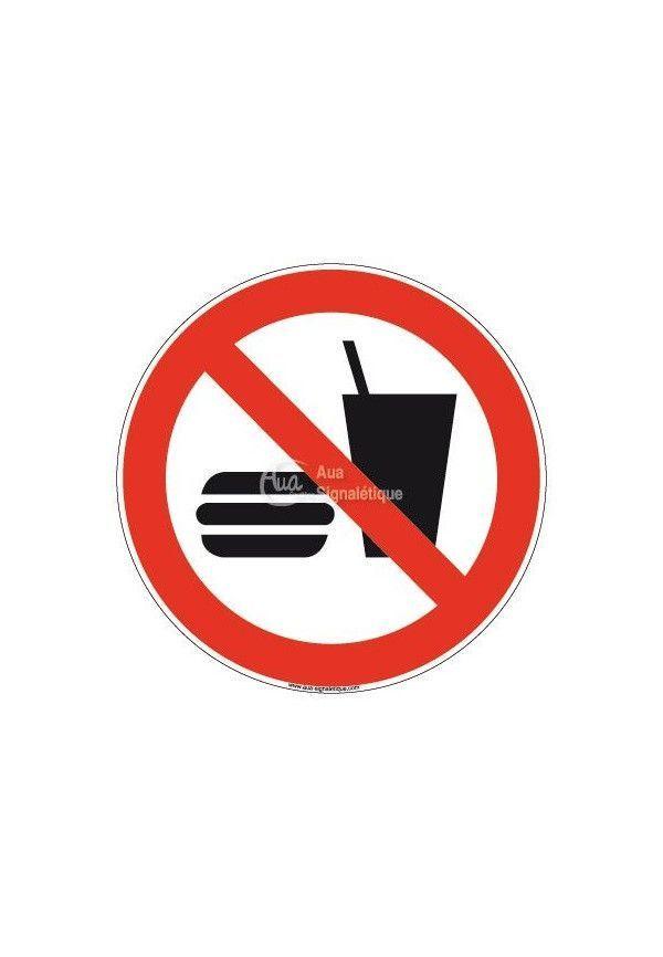 Panneau Interdiction Manger ou Boire, Picto - R