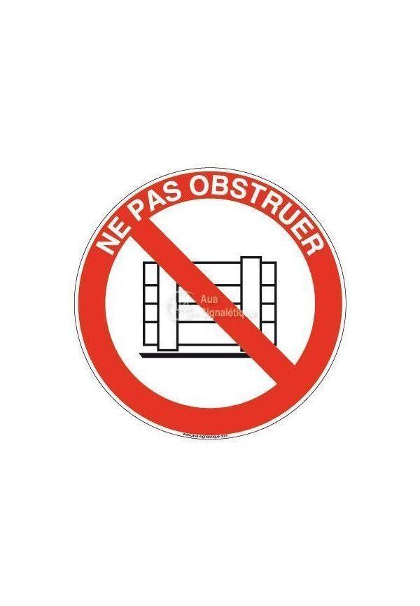 Panneau Ne Pas Obstruer - R