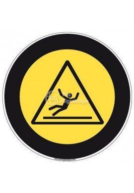 Panneau Danger Surface Glissante, Picto - R