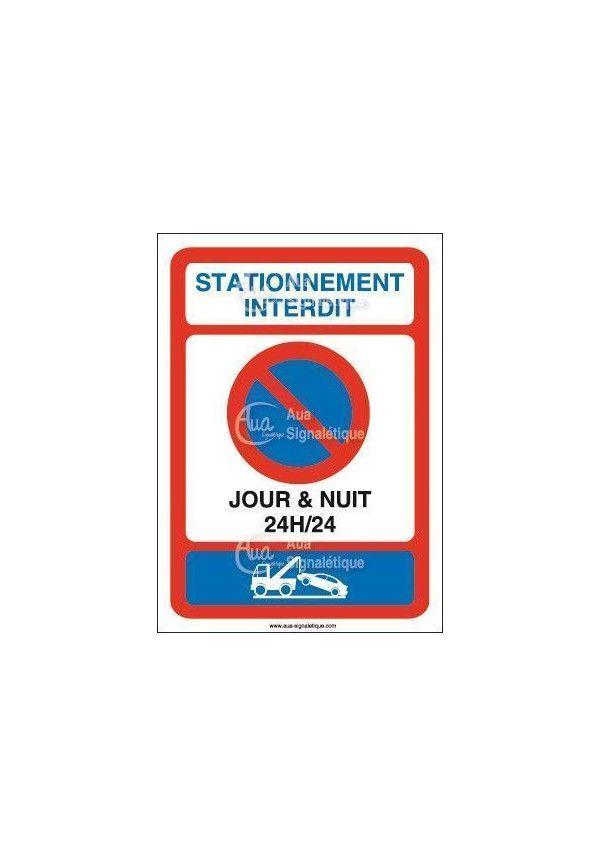 Panneau Stationnement Interdit, Jour et Nuit - AI