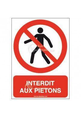 Panneau Interdit Aux Piétons - AI