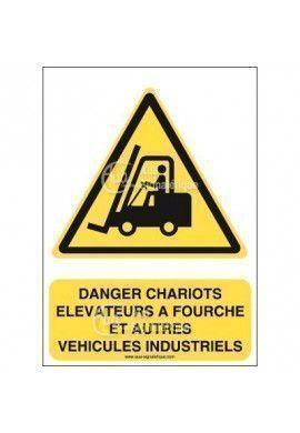 Panneau Danger, Chariots Elévateurs - AI