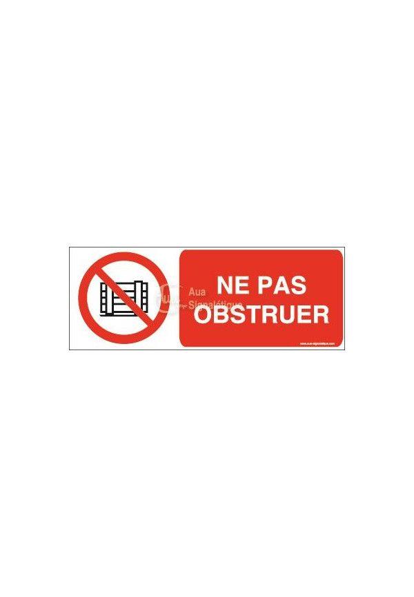 Panneau Ne Pas Obstruer - B